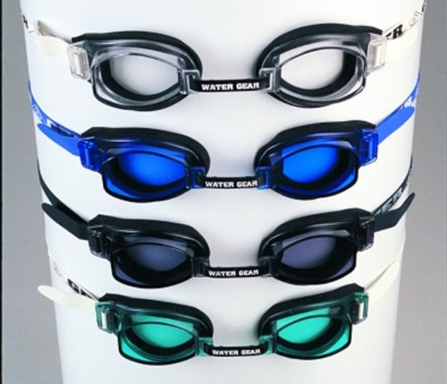 Water Gear RACER Swim Goggles Anti-fog fit for Competition - TEAL (Anti Fog Racer Goggle)