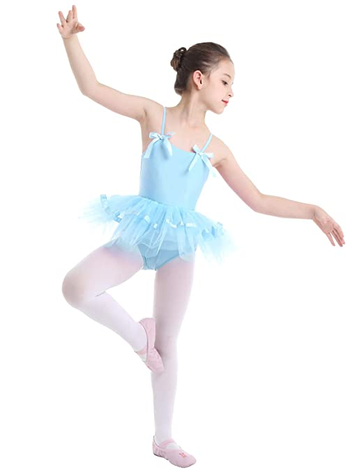 iEFiEL Girls Camisole Ballet Dress Gymnastic Leotard Tutu Skirt Ballerina Dance Costumes
