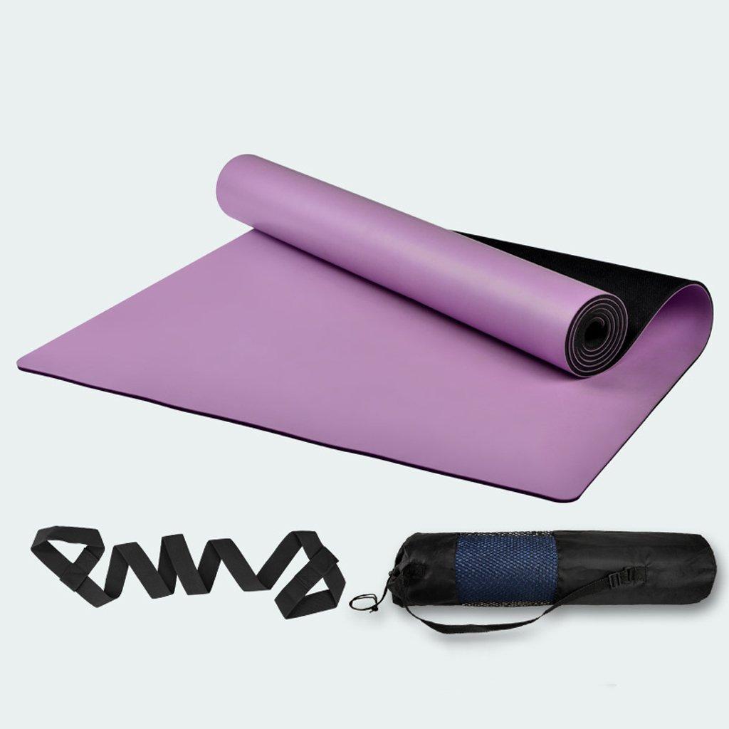 JTWJ Naturkautschuk Yoga-Matte Männer und Frauen Fitness-Matte Anfänger erweitert 68 Rutschfeste Yoga-Matten lokalen Matte (Farbe : lila)