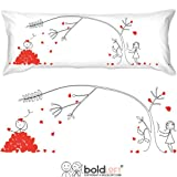BOLDLOFT Love You Madly Body Pillowcase- Romantic Gifts for Boyfriend, Cute Gifts for Him or Her, Romantic Anniversary Gifts for Husband