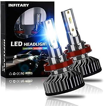 2Pcs H11 8000LM 6500K LED Headlight Driving Fog Lights Bulbs Kit Replacement New