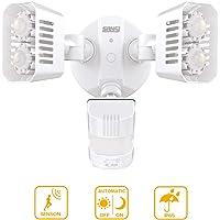 SANSI 18W (Equivalentes de 150w) Foco LED Exterior con Sensor de Movimiento PIR, 1800lm Super Brillo 5000K Blanco Frío Proyector LED, IP66 Impermeable Luces de Seguridad Focos LED Exterior, Blanco