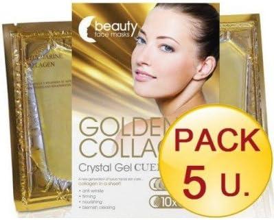 Prisma-Natural - PACK 5 UNDS. MASCARILLA FACIAL ORO COLAGENO - 5-masc-facial-oro: Amazon.es: Belleza