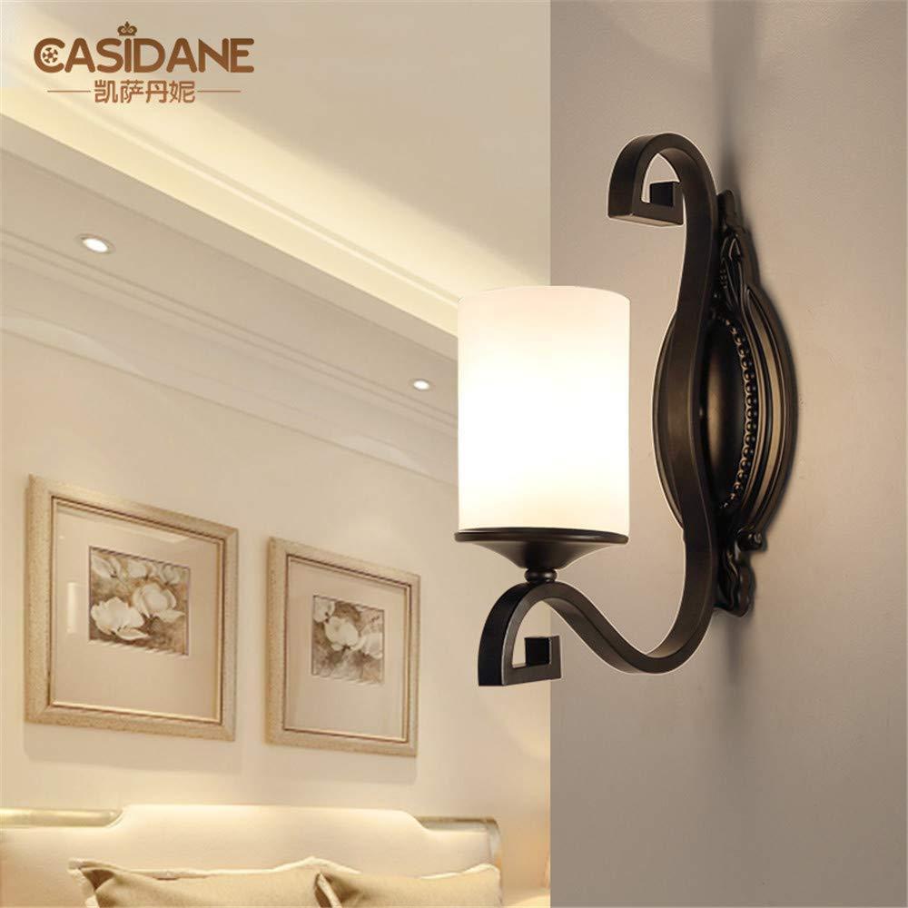 JJZHG Wandleuchte Wandlampe Wasserdicht Wandbeleuchtung Land Schlafzimmer Wohnzimmer esszimmer Lampe Gang korridor einzigen Kopf Wandleuchte (12  34 cm) beinhaltet  Wandlampe