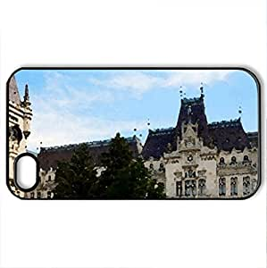 Beautiful Palace - Case Cover for iPhone 4 and 4s (Watercolor style, Black)