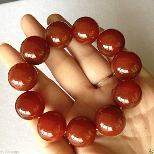 (Red 100% Natural A Jade Jadeite Bead Beads Bangle Bracelet 20mm)