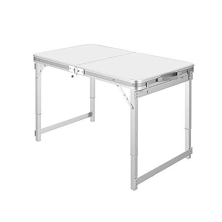 DUWX - Mesa Plegable De Aluminio, Pequeña Pequeña Mesa De Comedor ...