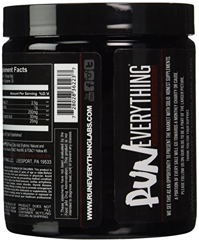 Run Everything Labs Show The World Pump Formula Powder, Mango, 6.9 Ounce