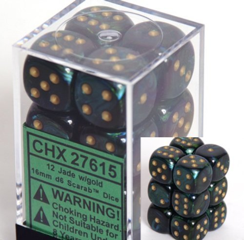 dice d6 sets scarab jade
