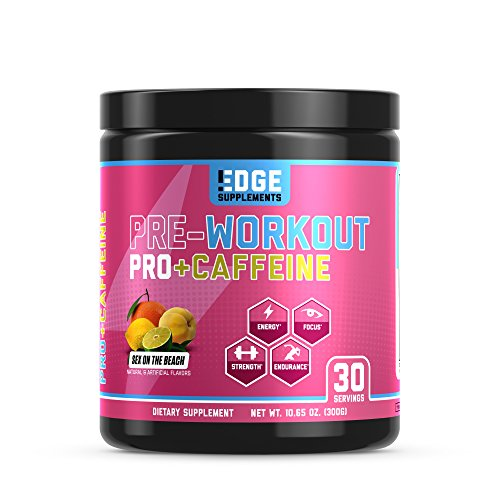 EDGE Supplements Preworkout Pro with Caffeine (Explosive Workout Energy, Increased Endurance and Power, Delivers Hyper Focus & Alertness) – Sex on The Beach