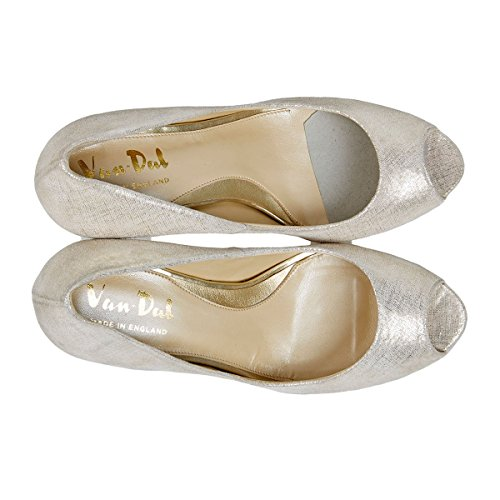 Peep Dal UK 5 Ladies Platino Prt 5D Walsingham Elegant Size Shoes Van Toe wg7x7tRqf