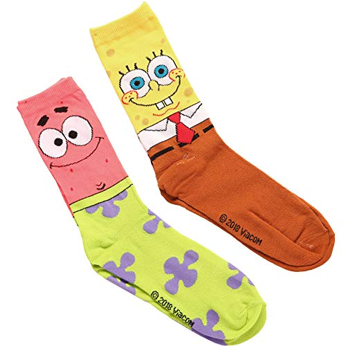 Spongebob & Patrick Adult 2-pack Crew Socks]()