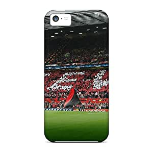 Iphone 5c Cases Covers - Slim Fit Protector Shock Absorbent Cases (man U)