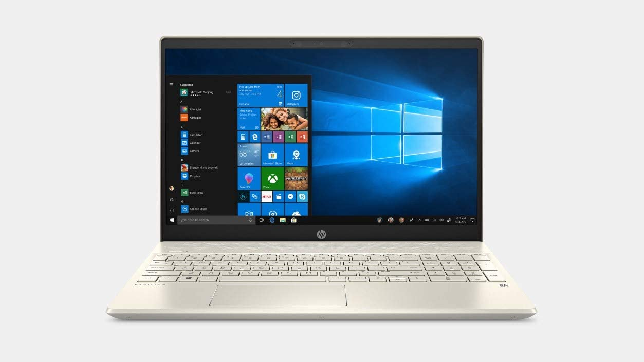 "Newest HP Pavilion 15.6"" HD Touchscreen Premium Home & Business Laptop PC, Intel Quad-Core i5-8265U up to 3.9GHz, 16GB RAM, 512GB SSD, WiFi, HDMI, Wide Vision HD Webcam, Windows 10, Gold"