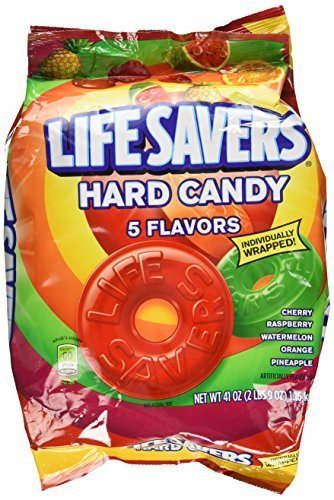 Lifesavers 5 Flavor Bulk Bag (1- 41oz. bag, approx. 292 pieces) by CandyMafia (Life Savers Bulk)