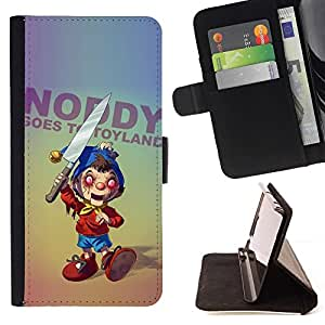 Momo Phone Case / Flip Funda de Cuero Case Cover - Creepy Cuchillo Toy Horror Slogan Ugly aleatoria - Samsung Galaxy S6 EDGE