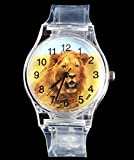 Amyove African Lion Animal Men Women Cheap Watches relojes Mujer §¹§¡§³§½ Relogio Watch Transparent