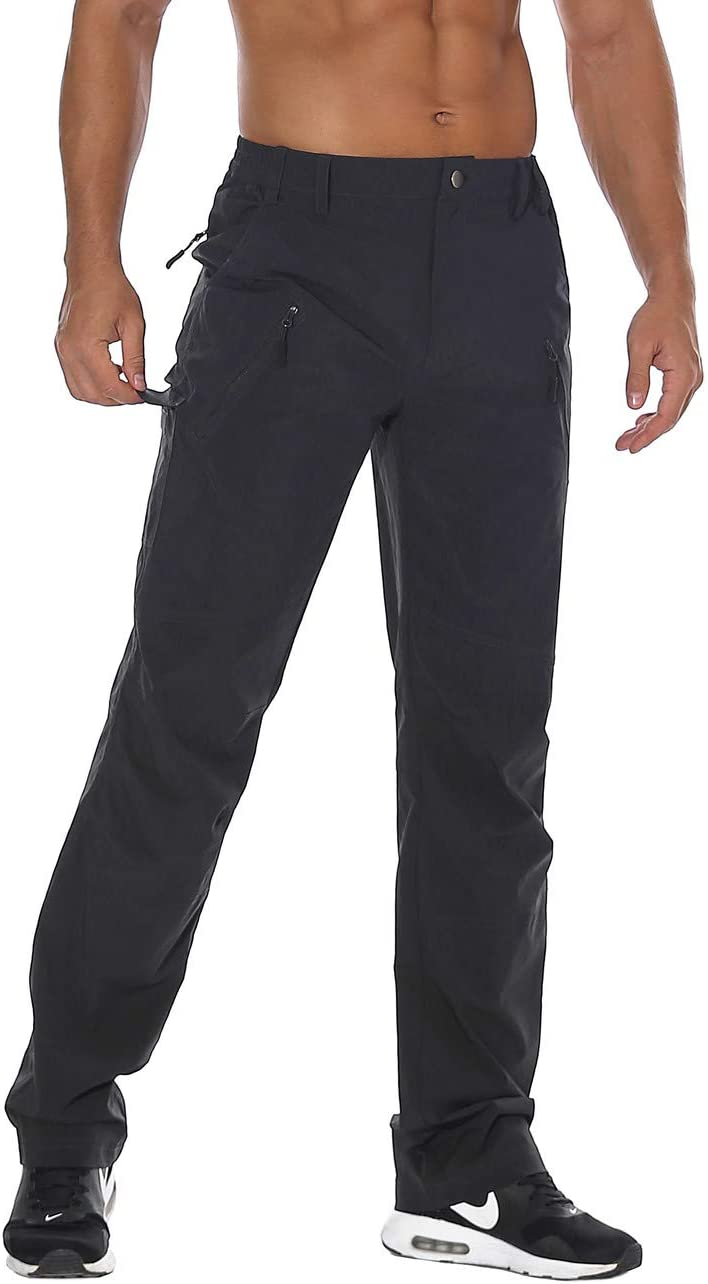 Nonwe Mens Quick Dry Water-Resistant Hiking Camping Pants