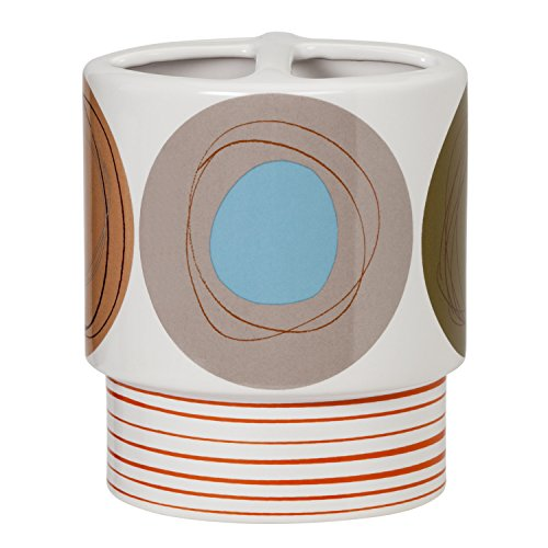 Creative Bath Products Dot Swirl Toothbrush Holder, Multi-Color