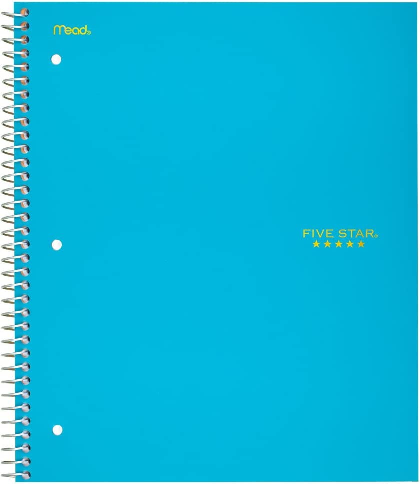 Five Star Spiral Notebook, 1 Subject, Graph Ruled Paper, 100 Sheets, 11