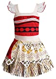 AOVCLKID Moana Costume Little Girls Dress up Toddler Baby Halloween Cosplay Outfit Kids Party Dressess