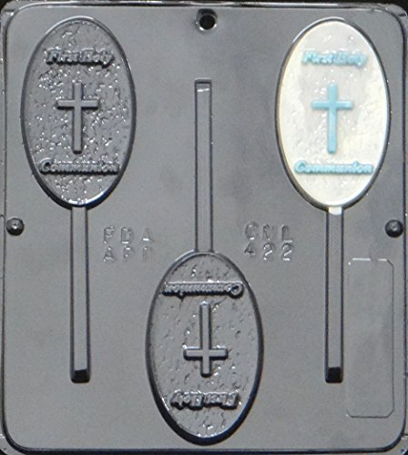 First Holy Communion Lollipop Chocolate Candy Mold Religious - Molds Candy Religious