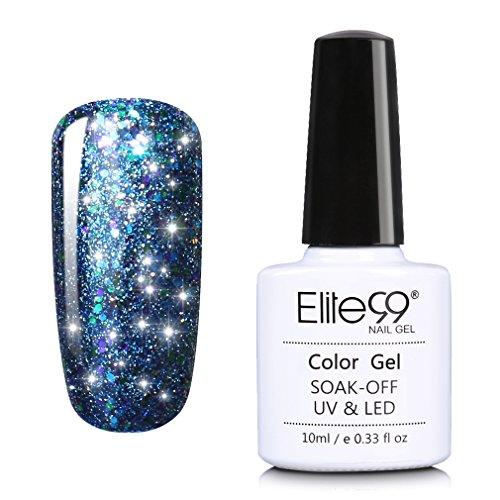 Elite99 Soak Off UV LED Starry Gel Nail Polish Glitter Nail