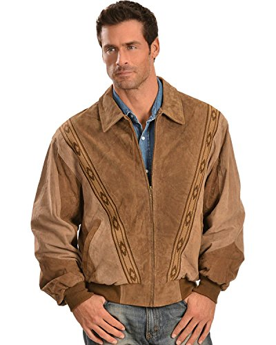 Scully Men's Boar Suede Leather Arena Jacket Cafe X-Large from Scully