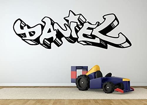 Childrens Personalised Graffiti Wall Sticker Boys//Girls Bedroom art and name!