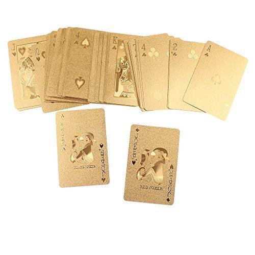 Jiliオンラインプラスチックゴールド防水Playing Poker Cardsセットコレクション標準PlayingカードのカードLoversの商品画像