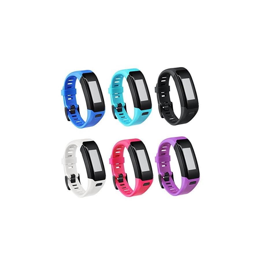 TECKMICO Garmin Vivosmart HR Bands,6PCS Colorful Replacement Bands for Garmin Vivosmart HR,NO Tracker