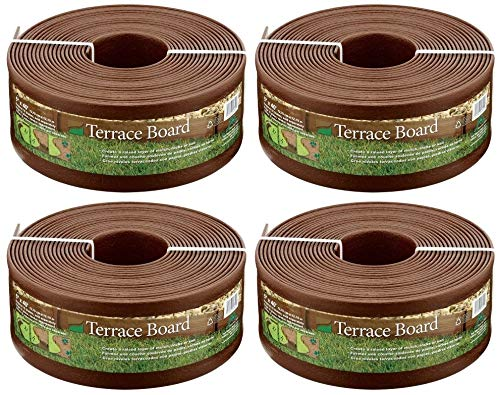 (Master Mark Plastics 95340 Terrace Board Landscape Edging Coil, 5-inch x 40-Foot, Brown (Pack of 4))