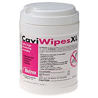 METREX 13-1150 CaviWipes Disinfecting Towelettes, X-Large for Medical Room Cleaning