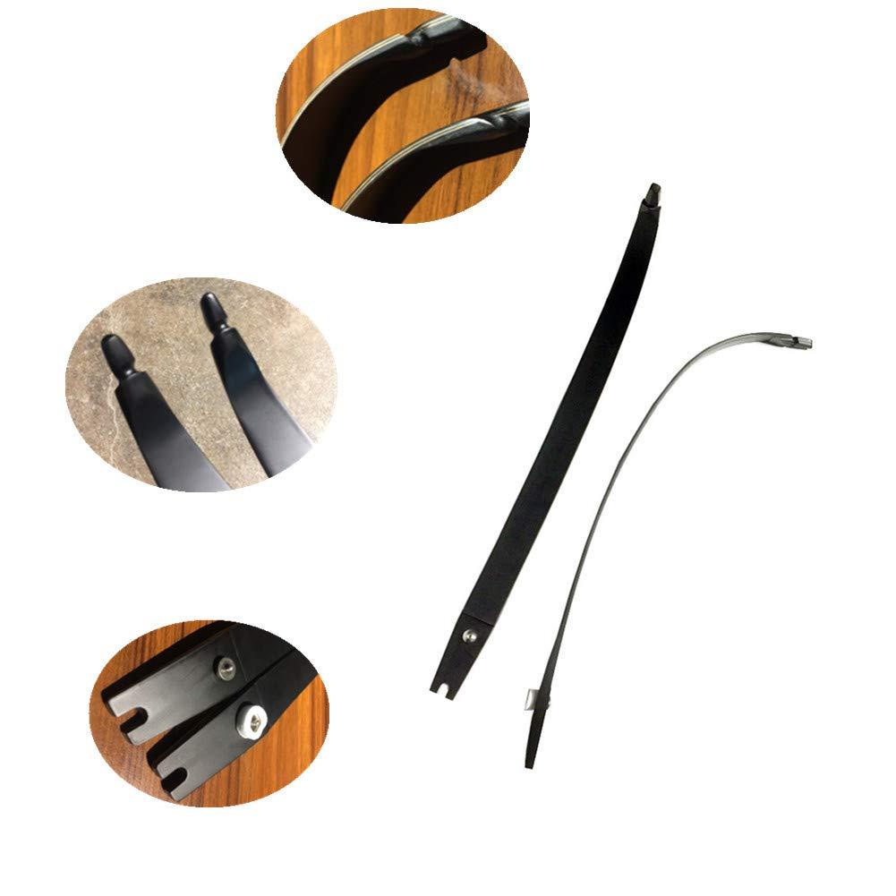 Tophunter Archery Takedown Recurve Bow Limbs ILF Universal Laminated Limbs 30lb 35lb 40lb 45lb 50lb 55lbs Black