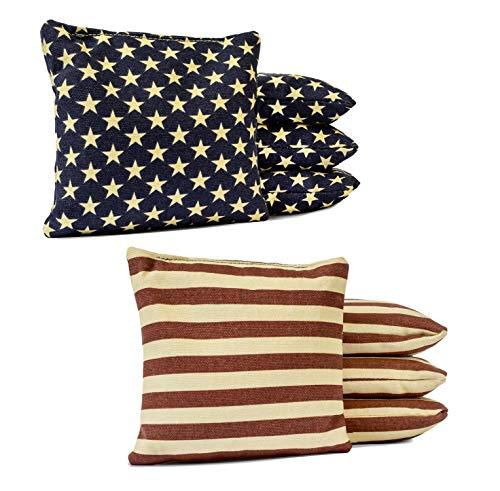 Johnson Enterprises, LLC Set of 8 Premium Corn Filled Cornhole Bags - Regulation Duck Cloth Bean Bags for Corn Hole Game