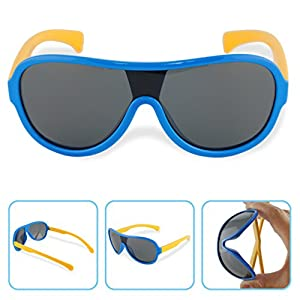 Boys Girls Kids Polarized Infant UV Protection Aviator Sunglasses NSS0702blue