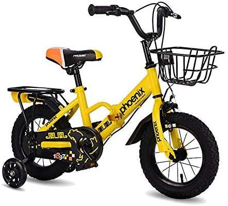 YSA キッズバイクガールズバイク|子供用バイク|トレーニングホイールとバスケット付き自転車|12,14,16,18インチ|3-12歳の自転車