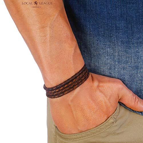 Fully Adjustable Local League SURF PATROL AUSTRALIA Mens Leather Bracelet ...