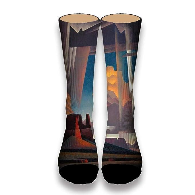 Ellaryo Desert Cliff Unisex Adult Personalized Crew Socks Prints Novelty  Socks Gift Socks White
