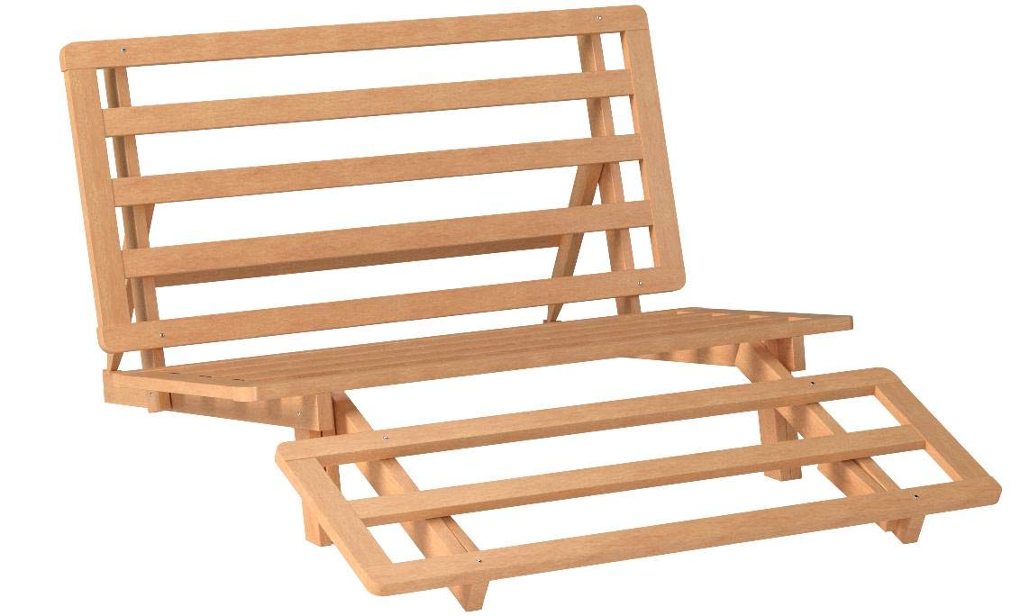 Tri-fold Hardwood Futon Frame - Twin Size by Futons & Furniture Direct