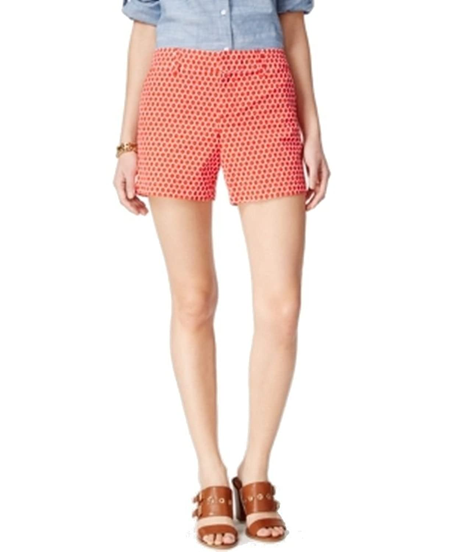 Tommy Hilfiger Bright White Women's Geo-Print Shorts Red 6