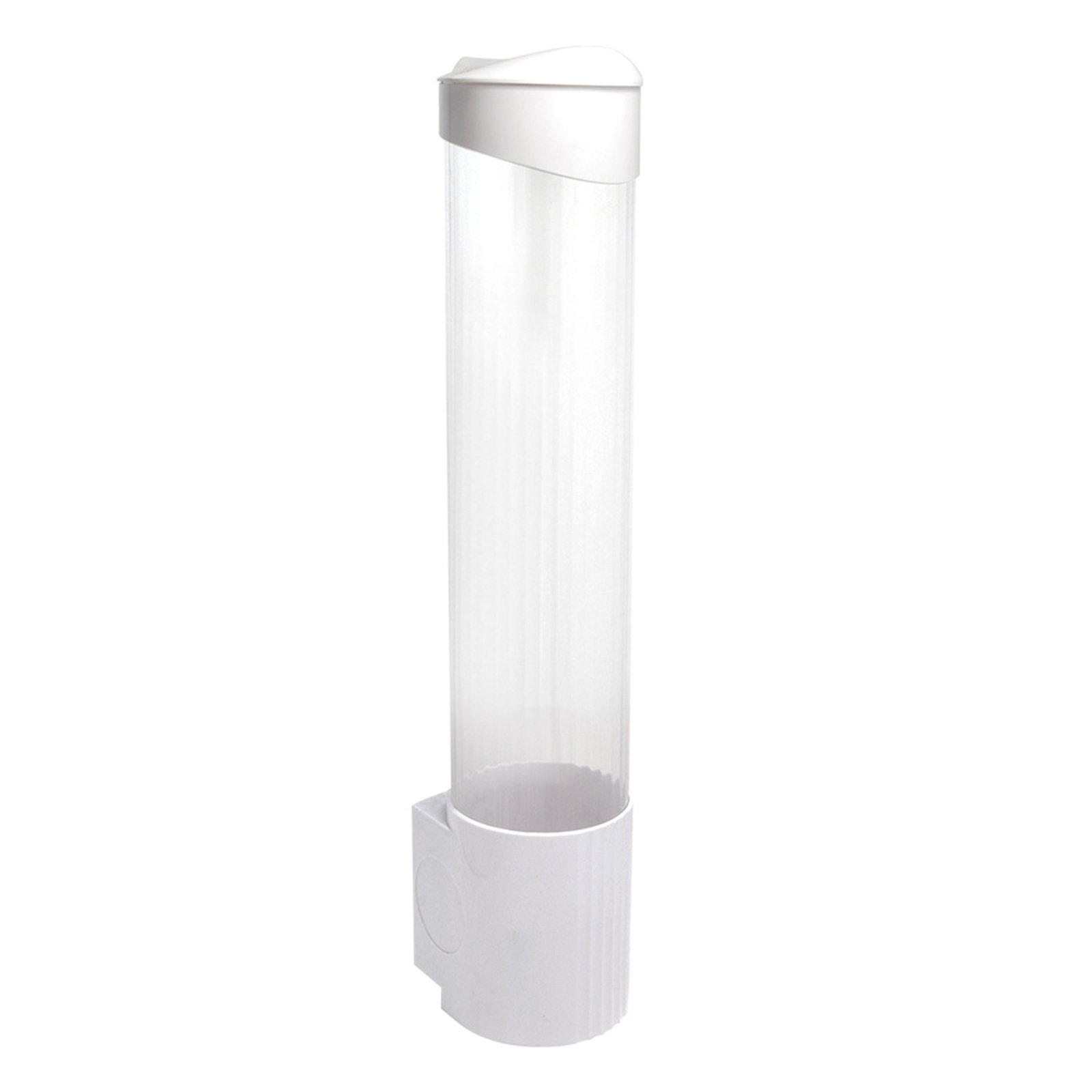 Cup Dispenser (Magnetic or Screw Plate Mountable) WHITE & CLEAR