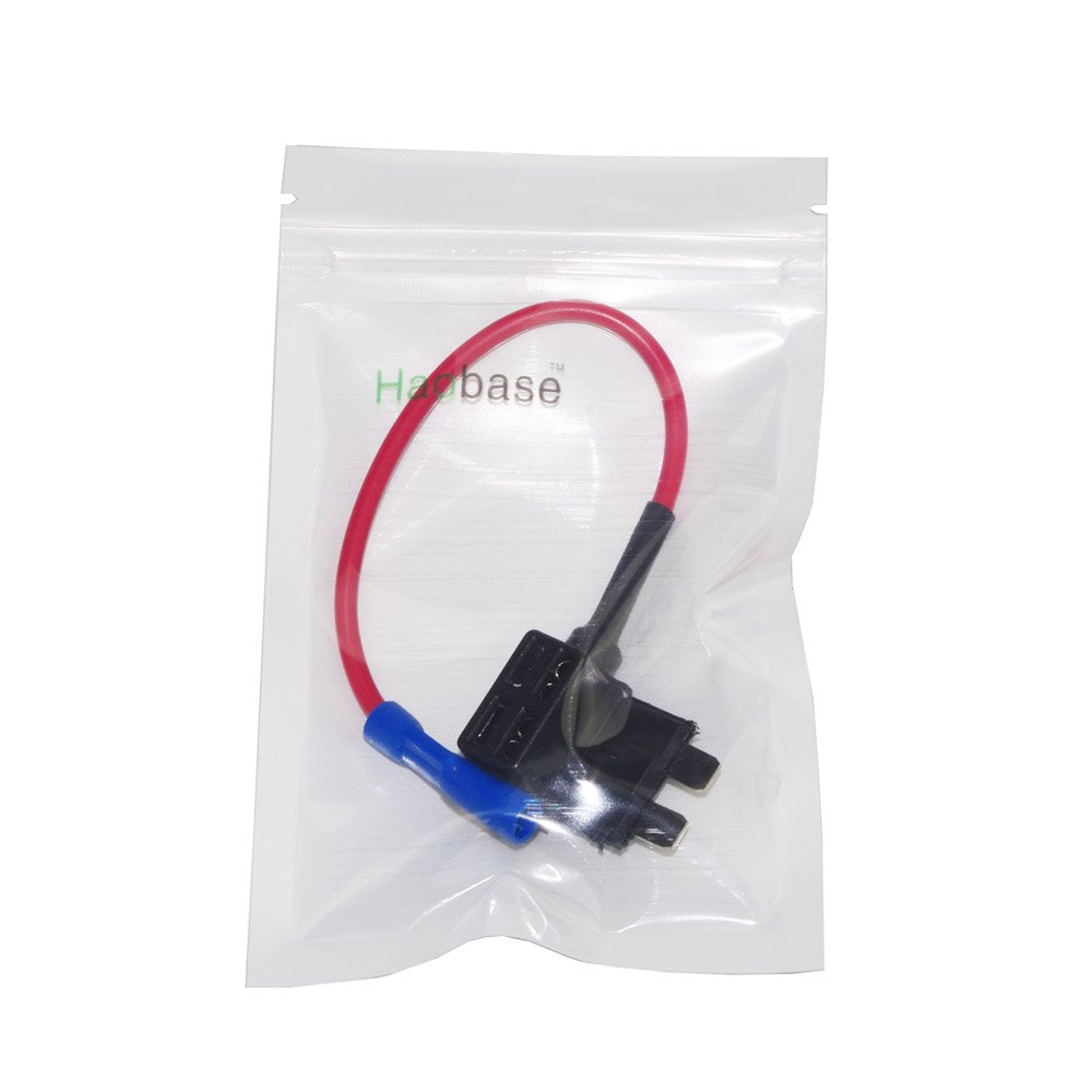Haobase Add A Circuit Fuse Holder Standard 20amp Addacircuit Mini Blade Red Diy Tools