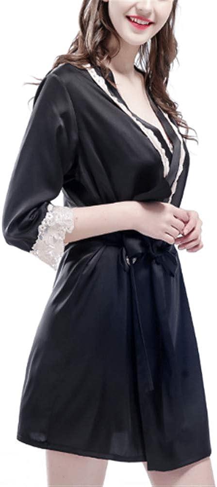Vestido Pijama Mujer Kimono Bata Albornoz Camisón, Cardigan ...