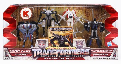 Transformers 2 Revenge of the Fallen Movie Exclusive Legends Action Figure Box Set War for the Skies Blades, Jetfire, Thundercracker & Spinister