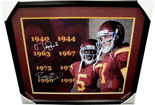 Matt Leinart Reggie Bush Dual Hand Signed Autographed 20x24 Photo USC Trojans