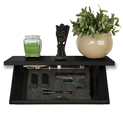 Covert Cabinets HG-21 Gun Cabinet Wall Shelf Hidden Storage, Satin Black