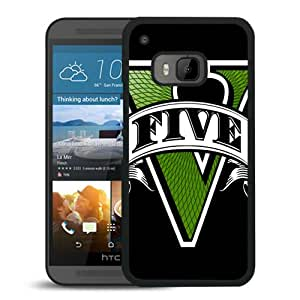 Newest And Fashionable HTC ONE M9 Case Designed With gta grand theft auto 5 font game Black HTC ONE M9 Screen Cover High Quality Cover Case