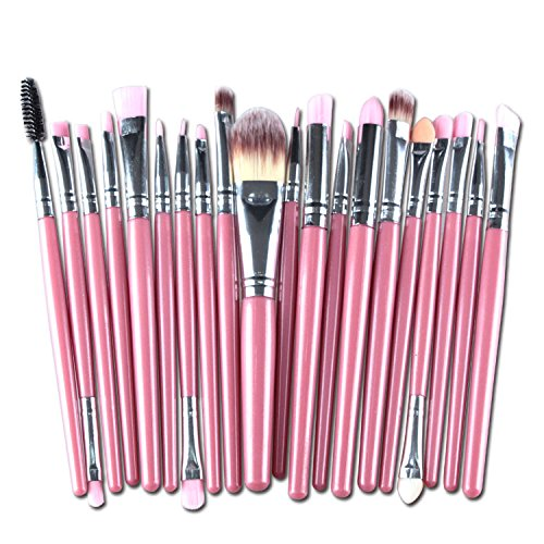 Beauty 20Pcs/Sets 2017 New Eye Shadow Foundation Eyebrow Lip Brush Base Makeup Brushes (Garden Hill Halloween 2017)