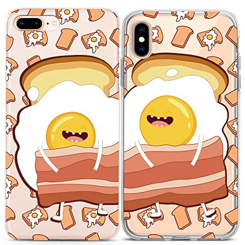 Lex Altern iPhone Case Xs Max X Xr 10 8 Plus 7 6s 6 SE 5s 5 Couple Eggs Clear Cute Present Bacon Gift Best Friend Phone Bro Soulmate Cover Print Protective Matching Flexible Girly Gudetama Funny Kids
